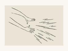 Load image into Gallery viewer, Magic Hands Linocut Art