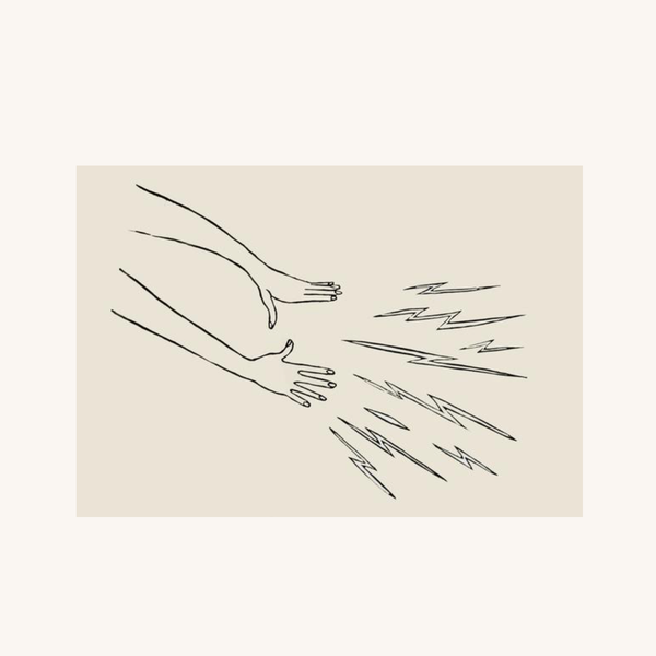 Magic Hands Linocut Print | Jennifer Ament | Aesthetic Print | Golden Rule Gallery | Excelsior, MN