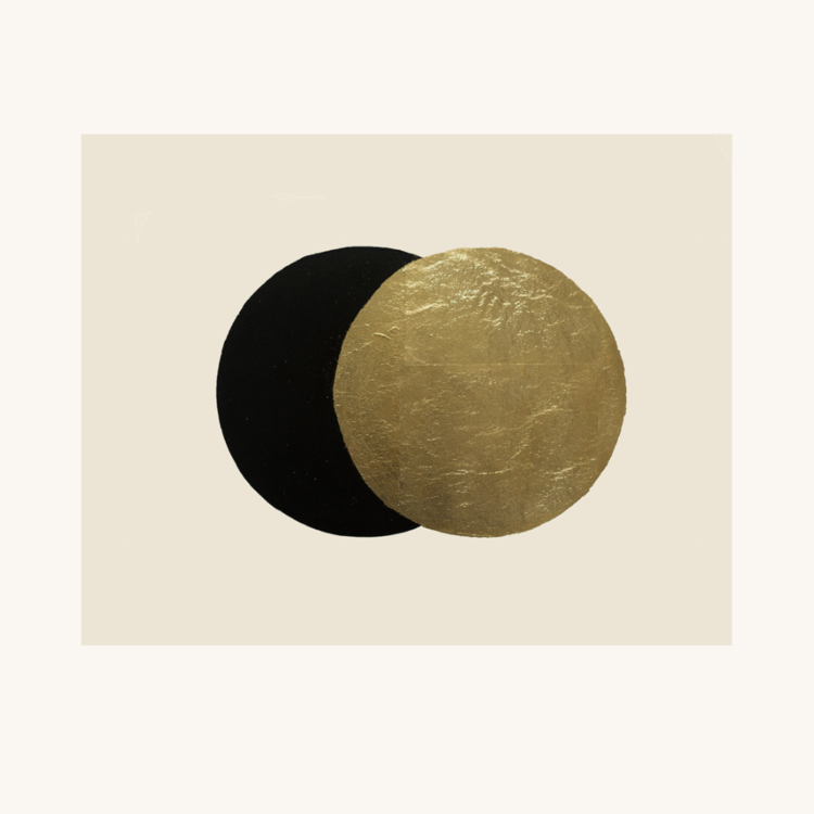 Eclipse Gold Leaf Embossed and Screen Printed Art