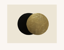 Load image into Gallery viewer, Eclipse Gold Leaf Embossed and Linocut Art