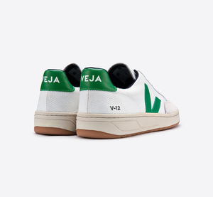 White and Green Veja Sneakers