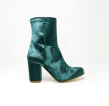 Load image into Gallery viewer, Myra Ankle Boots in Emerald Velvet