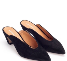 Load image into Gallery viewer, Per Mule in Black Suede - Intentionally Blank Shoes