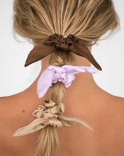 Load image into Gallery viewer, Silk Chiquita Scrunchie with Bow Detail