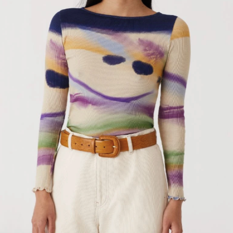 Paloma Wool Nucleo Top | Paloma Wool Long Sleeve | Sustainable Fashion | Golden Rule Gallery | Excelsior, MN