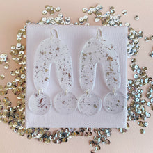 Load image into Gallery viewer, UU Silver Confetti Earrings