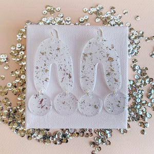UU Silver Confetti Earrings
