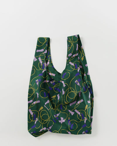 Reusable Tote in Green Tassel