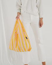 Load image into Gallery viewer, Reusable Tote in Marigold Stripe