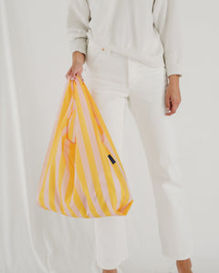 Reusable Tote in Marigold Stripe