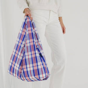Reusable Tote in Market Blue