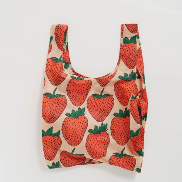 Baggu Reusable Tote Bag In Strawberry | Reusable Bag | Golden Rule Gallery | Excelsior, MN
