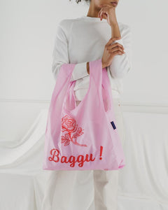 Reusable Tote in Thank You Rose