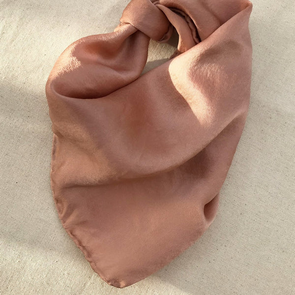 Plant Dyed Silk Scarf in Rose | Golden Rule Gallery