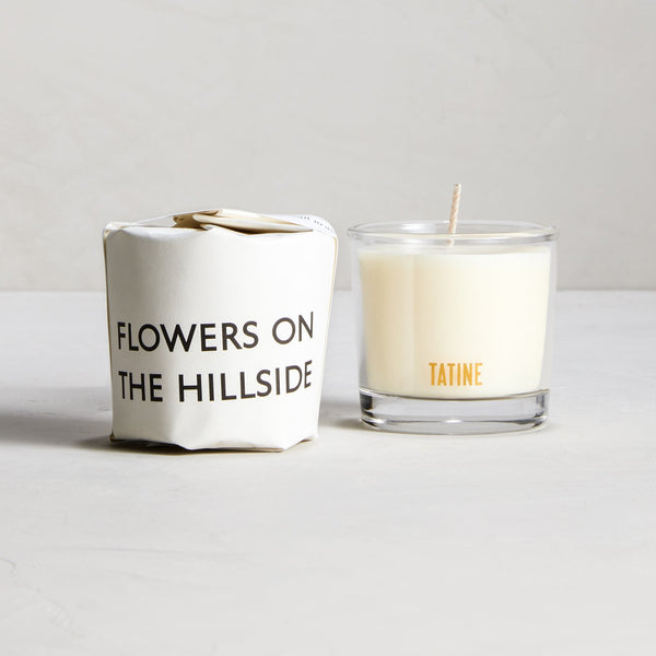 Flowers on the Hillside Candle | Tatine Candle | Floral Small Candle | Golden Rule Gallery | Excelsior, MN