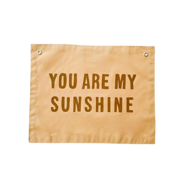 Sunshine Banner | Indie Boho Wall Decoration | You Are My Sunshine Art | Imani Collective | Golden Rule Gallery | Excelsior, MN