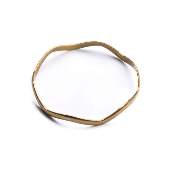 Vintage Brass Wave Bangle | Michelle Starbuck | Golden Rule Gallery