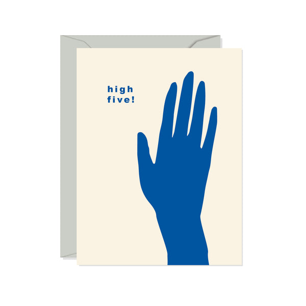 High Five Card | Confetti Riot | Minimalist Greeting Card | Golden Rule Gallery | Excelsior, MN