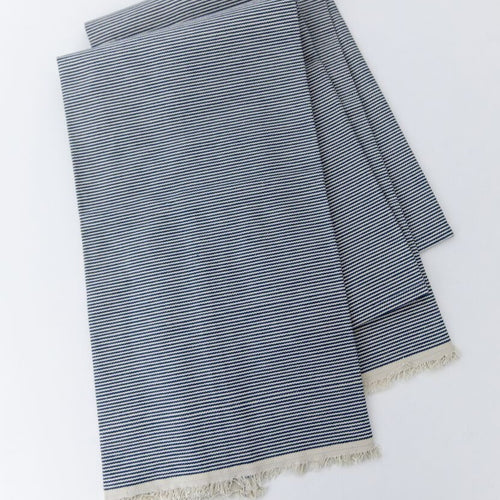 Railroad Stripe Selvedge Edge Tea Towel Set