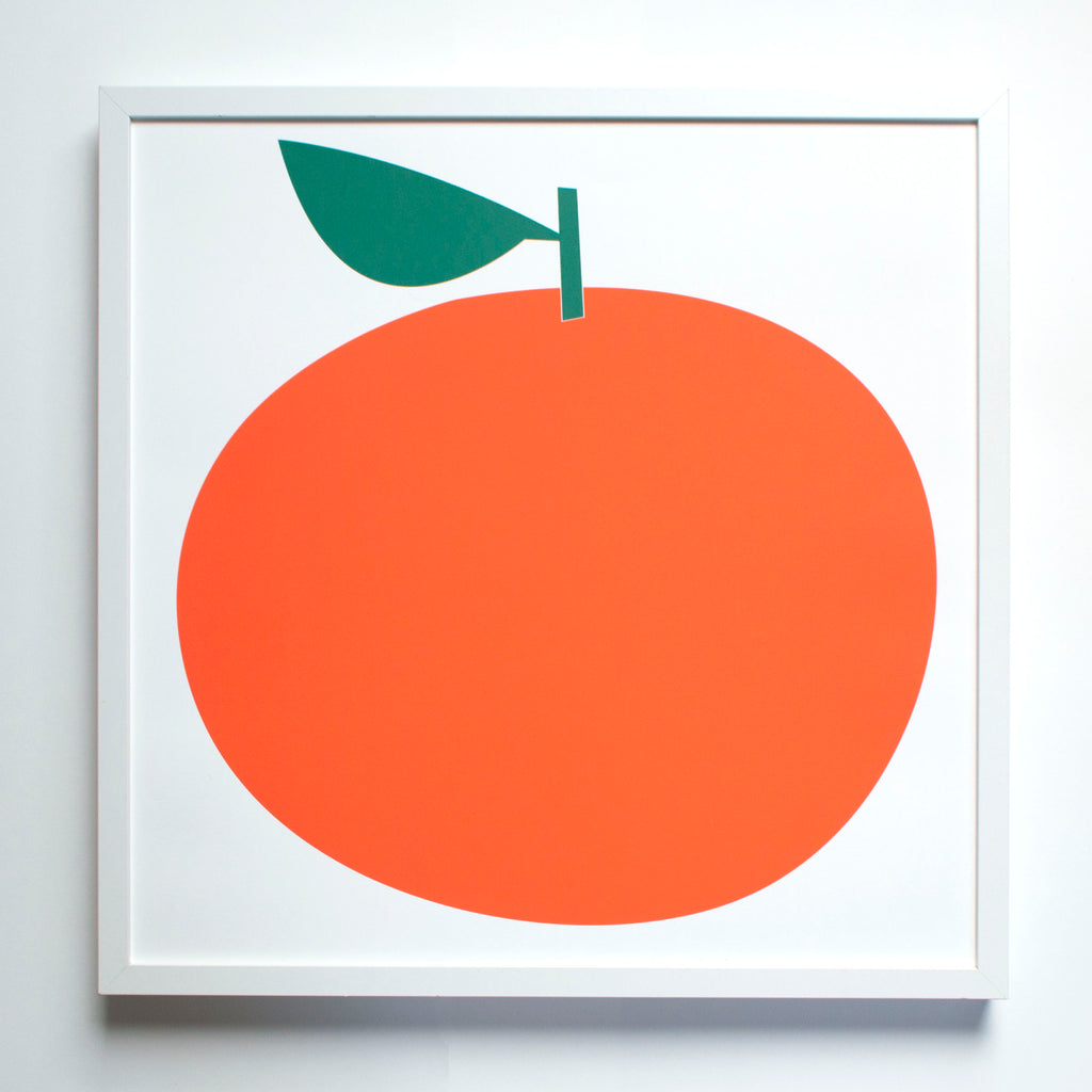 Clementine Art Print | Banquet Workshop | Fruit Graphic | Clean Aesthetic | Golden Rule Gallery | Excelsior, MN