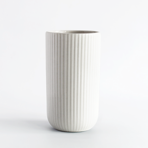 Latte Cup in White | Archive Studio | Netherlands Artist | Modern Aesthetic | Golden Rule Gallery | Excelsior, MN
