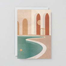 Load image into Gallery viewer, Pool With Arches Art Card