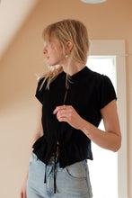 Load image into Gallery viewer, Ella Blouse In Sheer Black