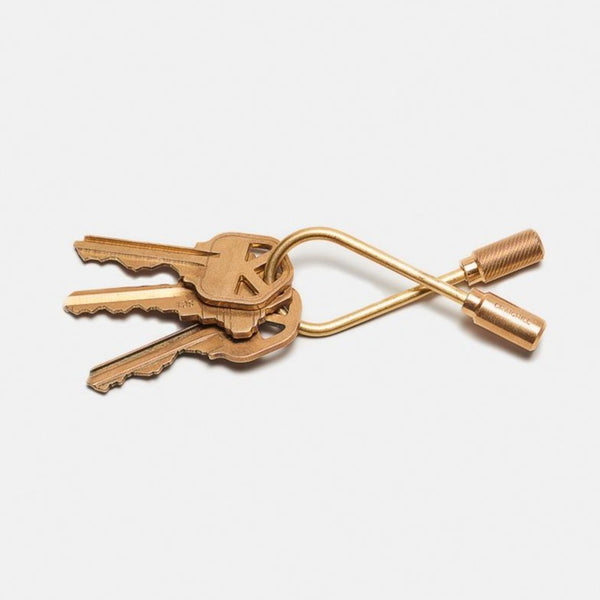 Closed Brass Helix Keyring | Brass Keyring | Craighill | Golden Rule Gallery | Excelsior, MN