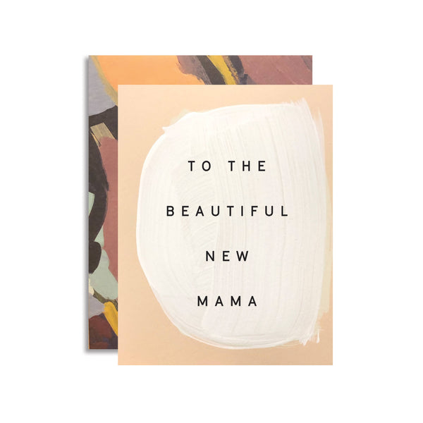 New Mama Art Card | Moglea | Abstract Art Card | New Mother Card | Golden Rule Gallery | Excelsior, MN