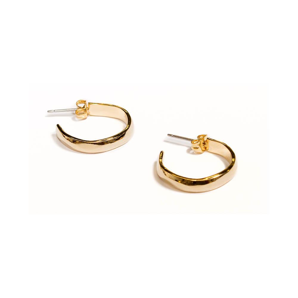 Small Niria Hoops in 18k Yellow Gold