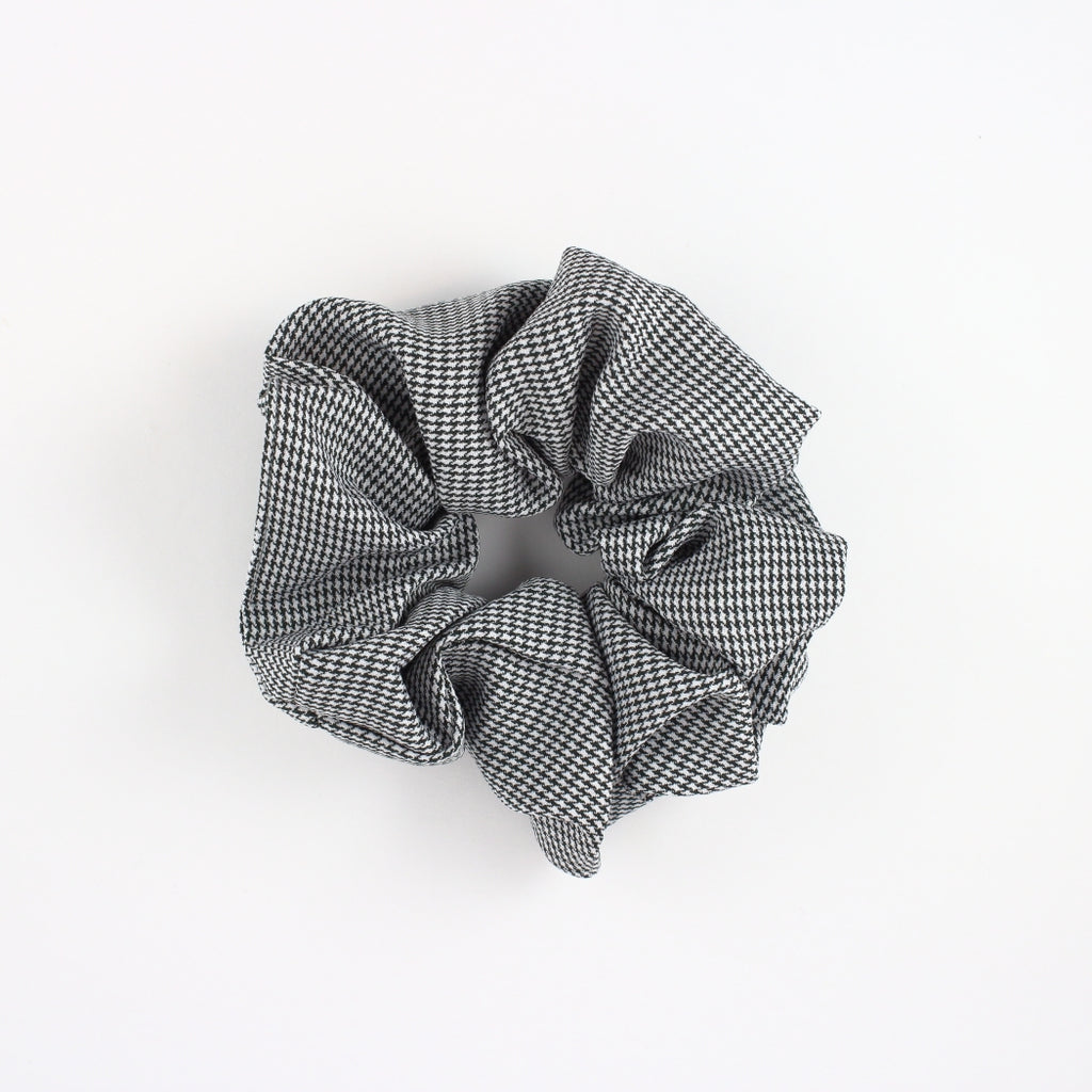 Black Small Check Scrunchie | Britts. Bows | Golden Rule Gallery | Excelsior, MN
