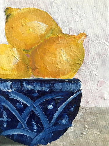 Lemons in a Bowl Still Life Art Print