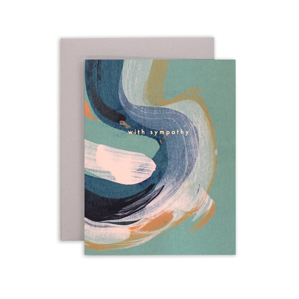 Sympathy Swirl Greeting Card | Abstract Art Card | Moglea | Hand Painted Art Card | Golden Rule Gallery | Excelsior, MN