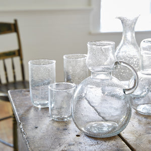 Seeded Glass 12 oz Tall Glasses