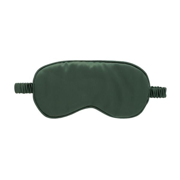 Silk Sleep Mask in Hunter Green | Green Silk Sleep Mask | Gifts for Him | Golden Rule Gallery | Made by Yoke | Excelsior, MN