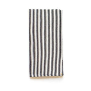 Black Broad Stripe Tea Towel