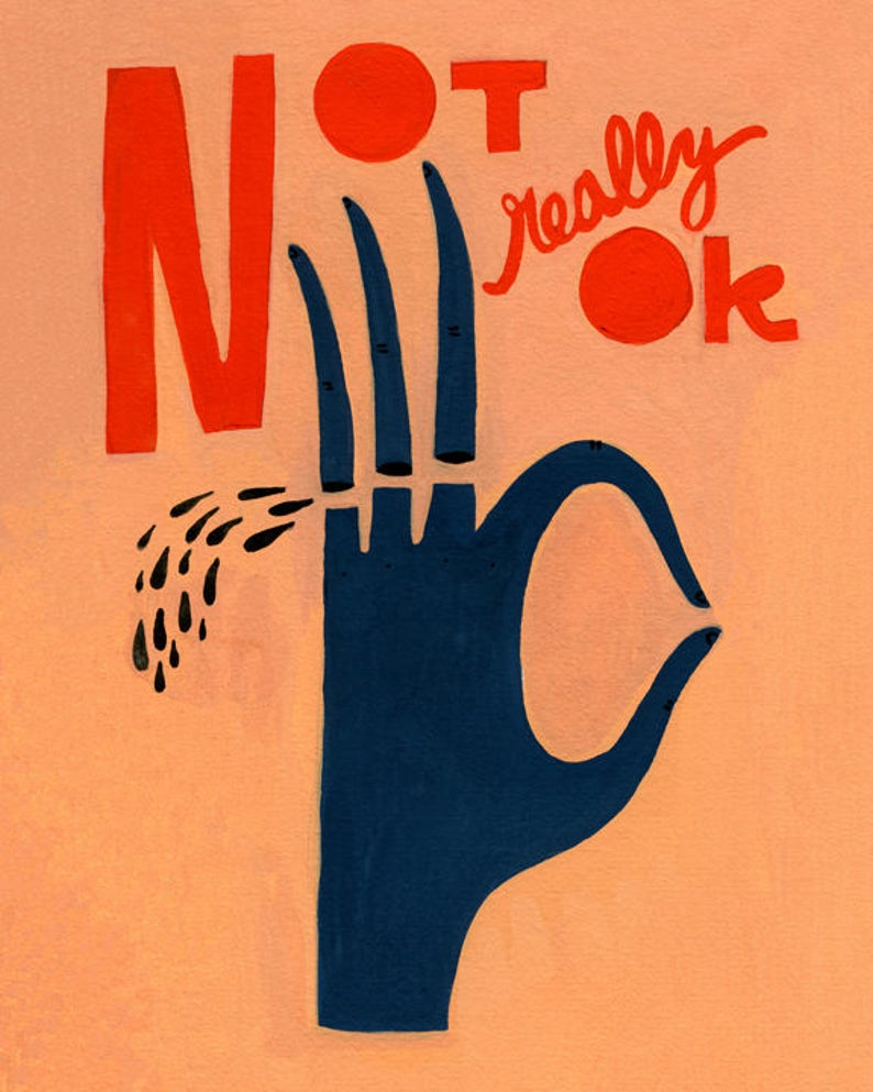 Not Really Okay Bekah Worley | Minnesota Artists | Golden Rule Gallery | Excelsior, MN