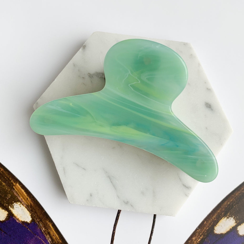 French Claw in Jadeite | Small Hair Clip | Fenna&Fei | Golden Rule Gallery | Excelsior, MN