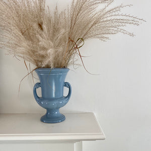 Vintage Blue Abingdon Urn Shaped Vase with Handles