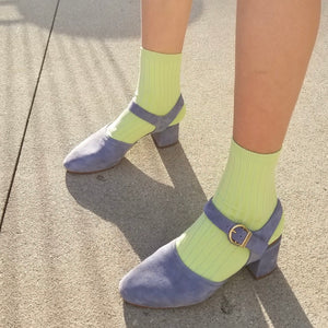 Her Socks In Lime
