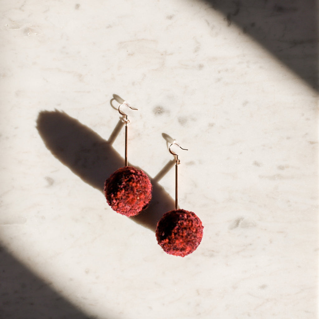 Fun Pom Pom Earrings | Golden Rule | Handmade Jewelry | Minneapolis