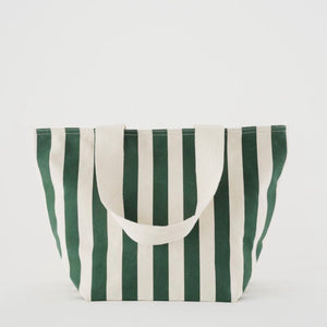 Canvas Zip Tote In Palm Stripe