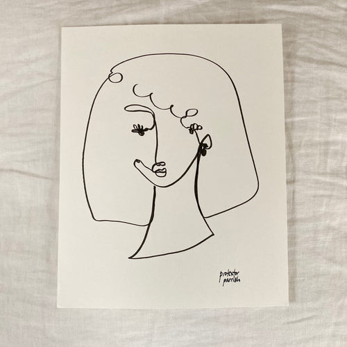 Original Single Line Contour Drawing - 805