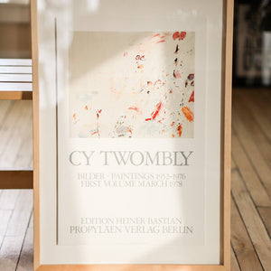 Cy Twombly Vintage 1978 Berlin Art Exhibition Poster