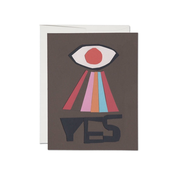 Yes Card | Red Cap Cards | Golden Rule Gallery | Art Greeting Card | Excelsior, MN