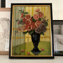 Load image into Gallery viewer, Antique Belgian Original Floral Still Life Oil Painting