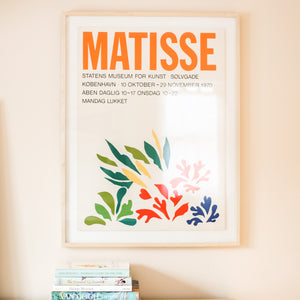 Matisse Vintage 1970 Danish Lithograph Art Exhibition Poster