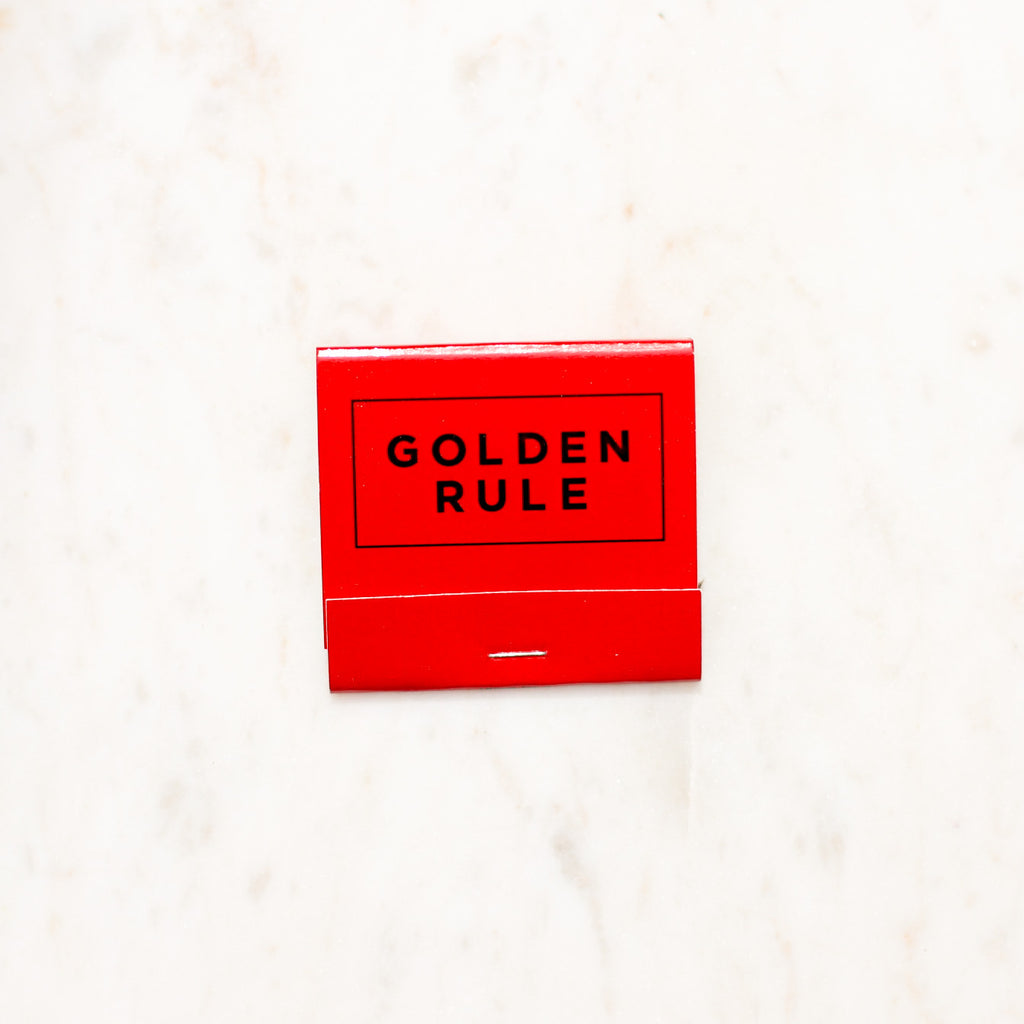 Golden Rule Branded Matchbook | Red Matches | Golden Rule Gallery | Excelsior, MN