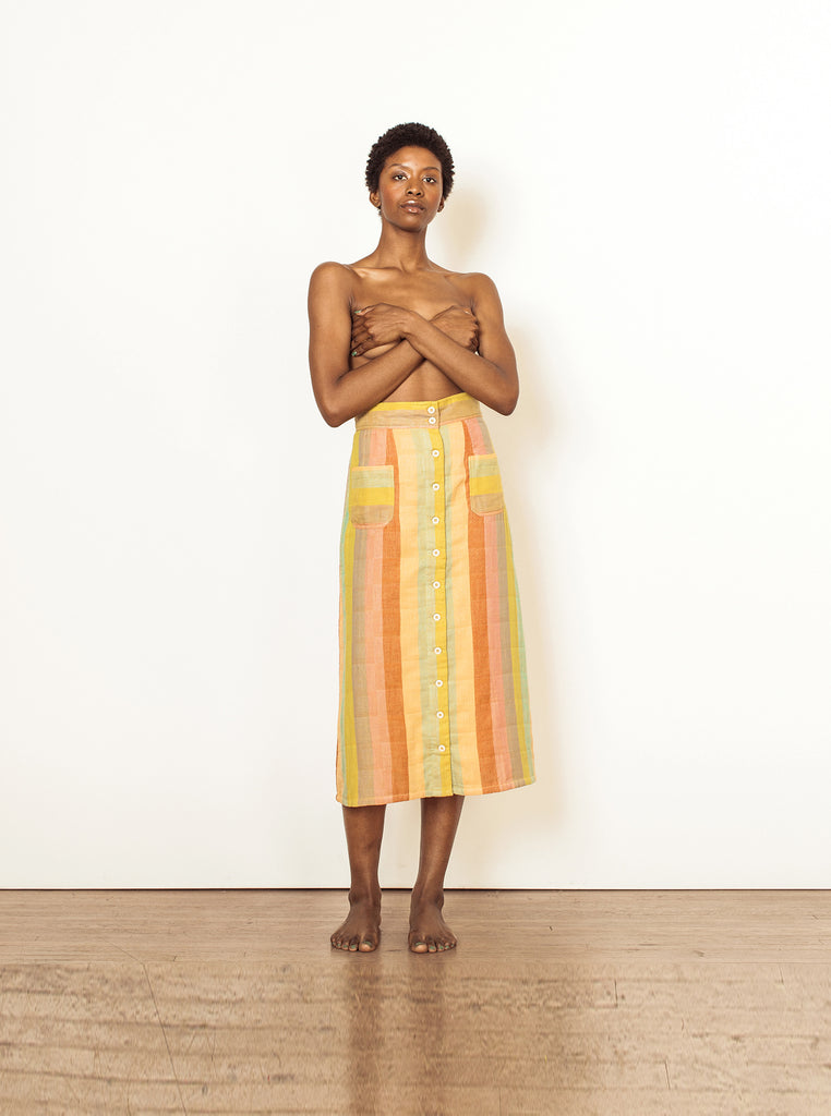 Ace & Jig Reversible Bo Skirt | Midi Button Down Skirt | Ace & Jig Skirt | Golden Rule Gallery | Excelsior, MN