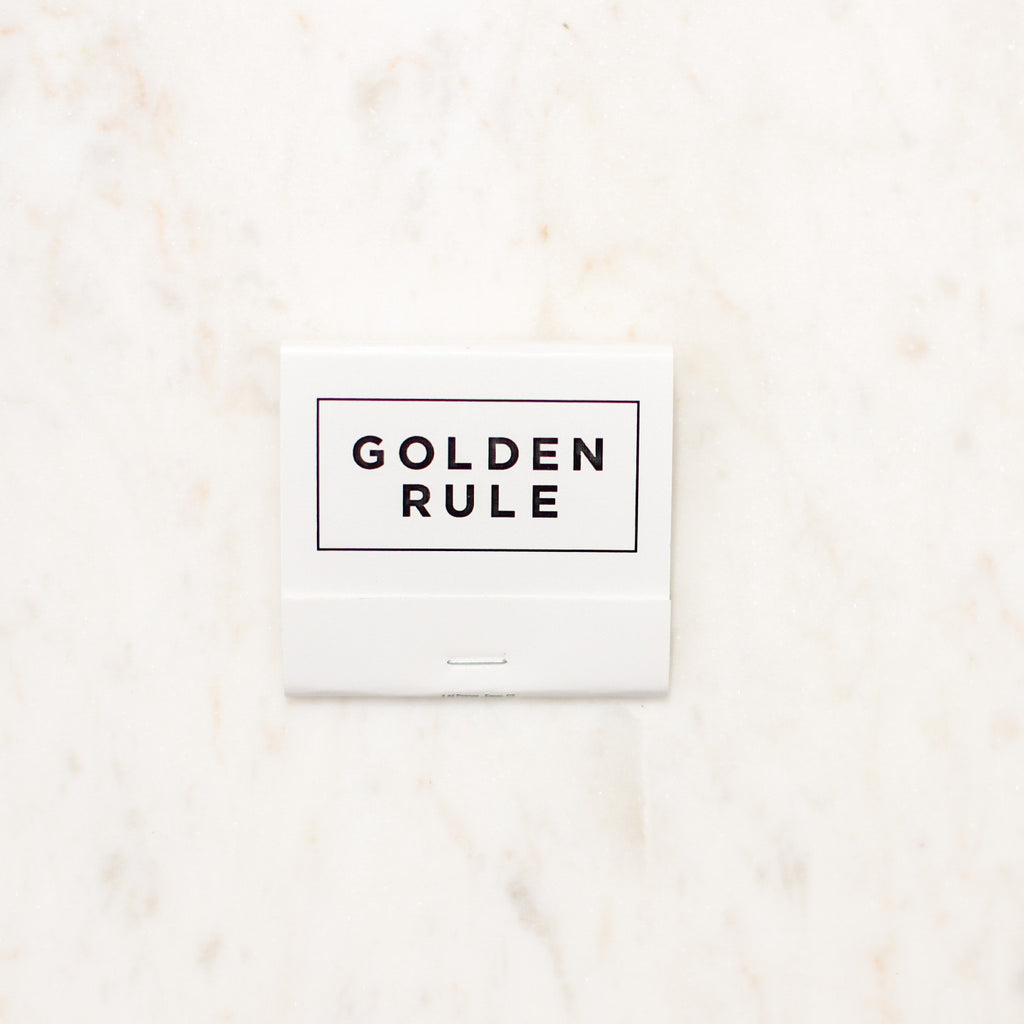 Golden Rule Branded Matchbook | White Matches | Golden Rule Gallery | Excelsior, MN